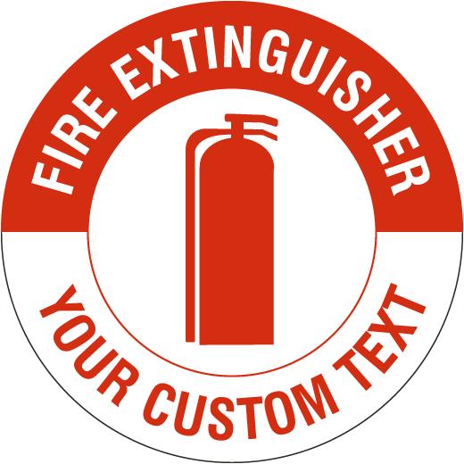 Custom Fire Extinguisher Floor Sign