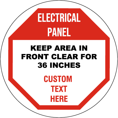 Custom Electrical Panel Floor Sign