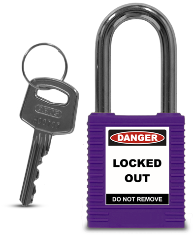 Purple Plastic Safety Padlock