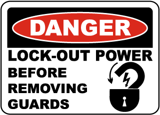 Danger Lock-Out Power Label