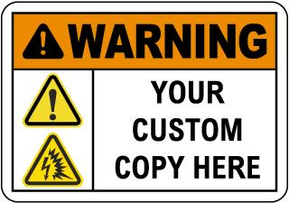 Custom Warning Safety Sign
