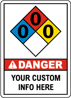 Custom ANSI / NFPA Safety Sign