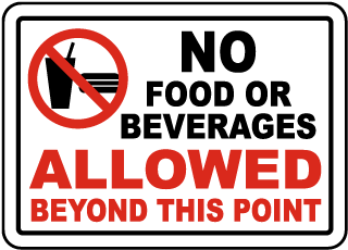 No Food Or Drink Signs, No Food Signs, No Food Allowed Signs