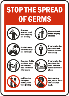 Stop The Spread of Germs Label