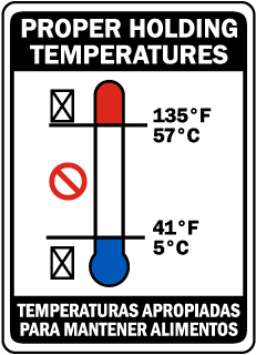 Bilingual Proper Holding Temperatures Sign