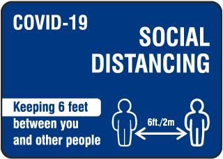 Covid-19 Social Distancing Sign