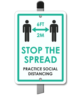 Stop The Spread Practice Social Distancing Yard Sign