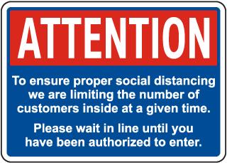 Ensure Proper Social Distancing Sign