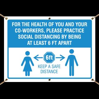 Practice Social Distancing Banner