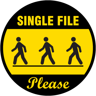 Single File Floor Signs