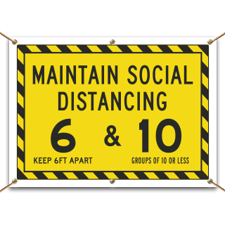 Maintain Social Distancing Banner