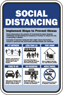 Social Distancing Preventions Sign
