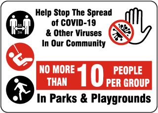 Help Stop the Spread Sign