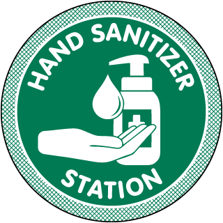 Hand Sanitizer Station Floor Sign