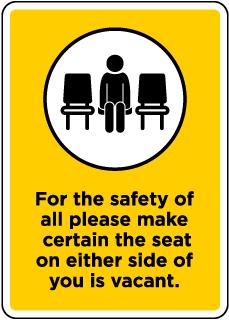 Make Certain to Sit Apart Sign