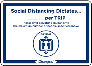 Elevator Occupancy Sign