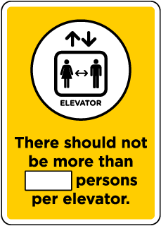 Elevator Number of Persons Sign