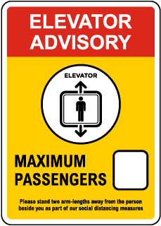 Elevator Advisory Sign