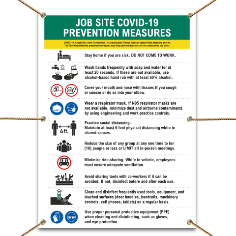 Job Site COVID-19 Prevention Measures Banner