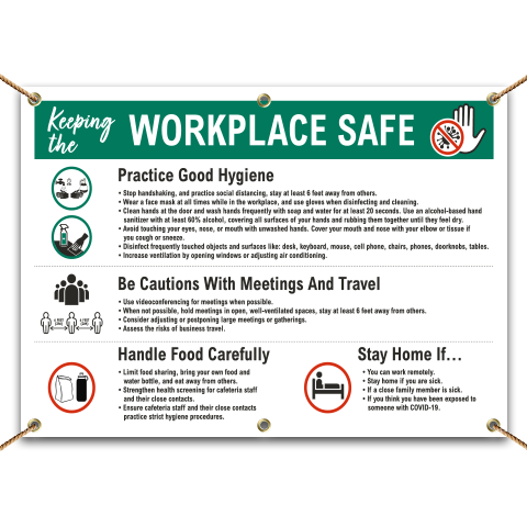 Keeping the Workplace Safe Banner