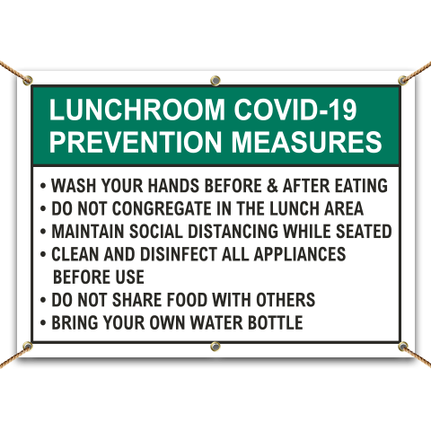 Lunchroom COVID-19 Prevention Measures Banner