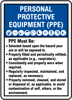 Personal Protective Equipment (PPE) Guidelines Sign
