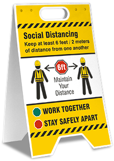 Social Distancing Construction Floor Stand