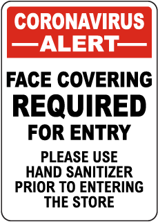 Coronavirus Face Covering Sign