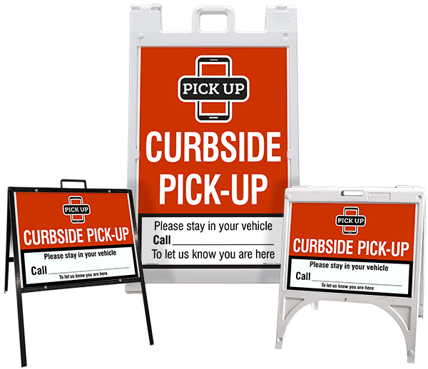 Curbside Pick Up Sandwich Board Sign