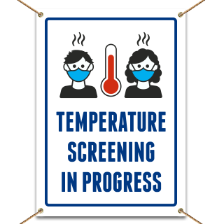 Safety First Temperature Check Zone Banner