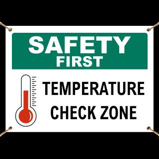 Stop Mandatory Temperature Screening Station Banner