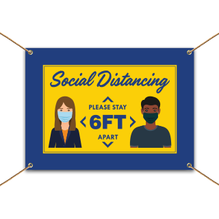 Social Distancing 6 Ft. Apart Banner