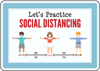 Let'S Practice Social Distancing Sign