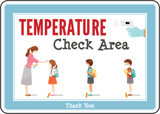 Temperature Check Area Sign