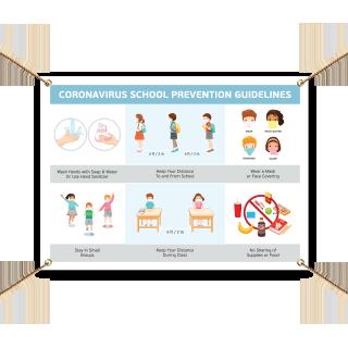 Coronavirus School Prevention Guidelines Banner