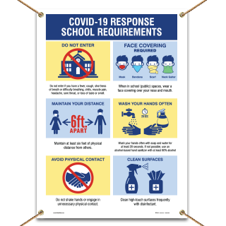 Covid-19 Response School Requirements Banner