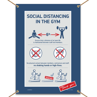 Social Distancing In The Gym Banner