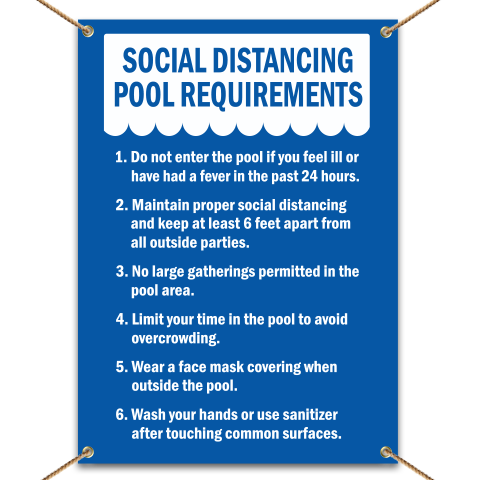 Social Distancing Pool Requirements Banner