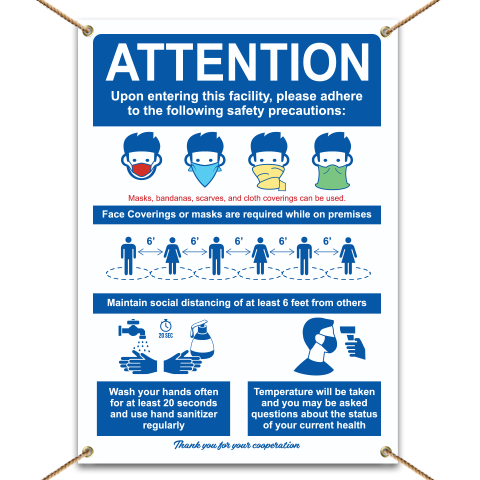 Attention Safety Precaution Banner