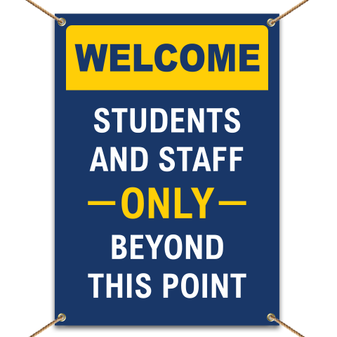 Welcome Students And Staff Banner