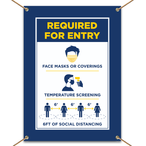 Face Mask/Covering Required For Entry Banner