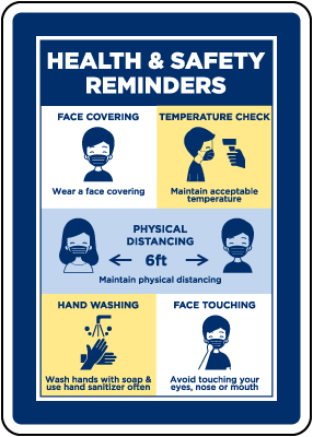 Health And Safety Reminders Sign