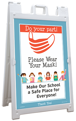 Do Your Part! Wear Your Mask Sandwich Board Sign