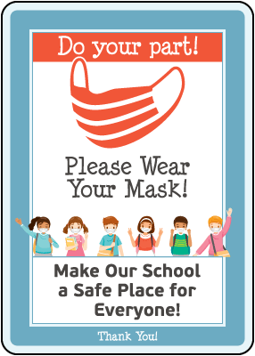 Do Your Part! Wear Your Mask Sign