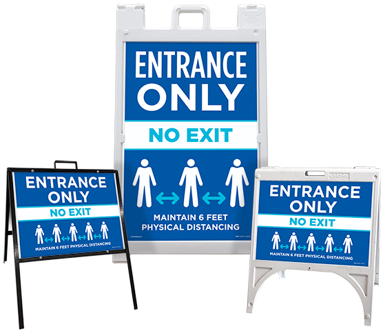 Entrance Only No Exit Sandwich Board Sign