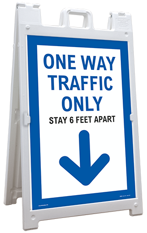 One Way Traffic Down Arrow Sandwich Board Sign