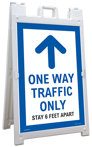 One Way Traffic Up Arrow Sandwich Board Sign
