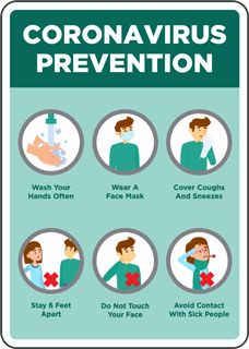 Corona Prevention Sign
