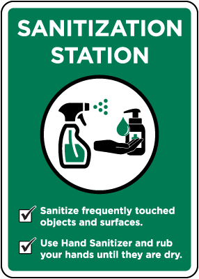 Sanitization Station Sign