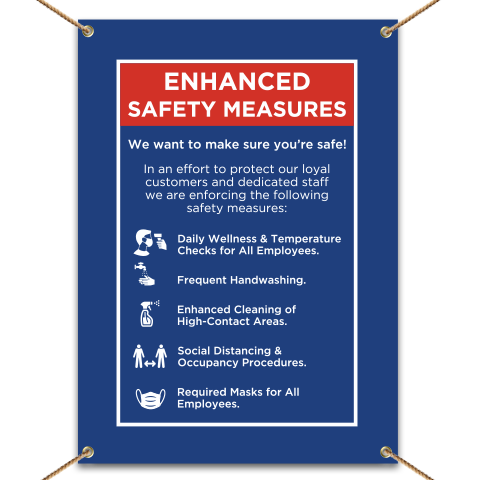 Enhanced Safety Measures Banner